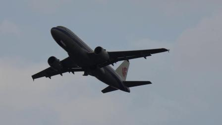 中国国际航空 空客319 B-6035 成都双流机场 一跑道起飞 蒋蕴龙