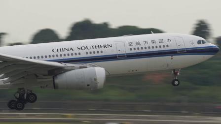 中国南方航空 空客330 B-6058 成都双流机场 二跑道降落 蒋蕴龙