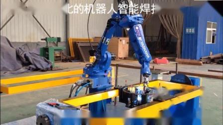 安川头尾架双工位机器人焊接