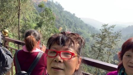 2019.1.17 清远天子山瀑布,玻璃桥体验