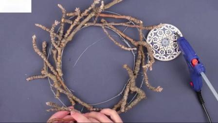 树枝花环教程