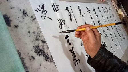 宁夏隆德县书悟堂李锦程老师挥毫《卜算子   咏梅》