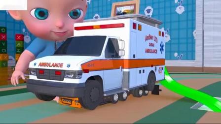 婴儿制造汽车五颜六色的颜色学习有趣的玩具室卡通的孩子