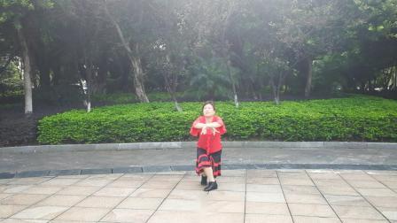 太阳花广场舞《今生今世跟你走》 编舞:雨夜