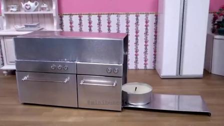 食玩,DIY粉红色迷你巧克力玫瑰蛋糕,太漂亮了舍不得吃!