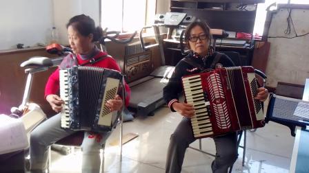 成人零基础学拉手风琴贝斯分解和弦《欢乐舞曲》(小宁、超英)