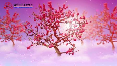 朔州市国风古筝艺术中心《梅花泪》LED背景带音频