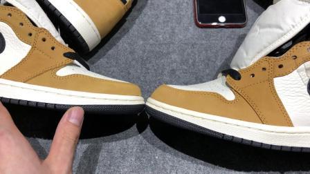 Air Jordan 1 AJ1年度新秀 黑棕脚趾 篮球鞋 555088-700 最强新秀 真假对比 区别市面版本
