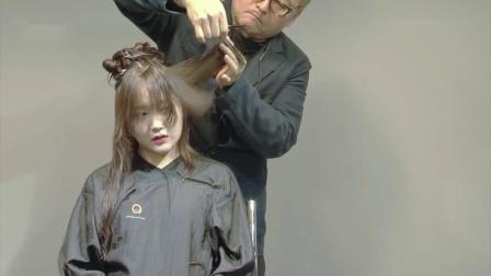 长发如何剪成有动感的齐肩短发,供发型师学习