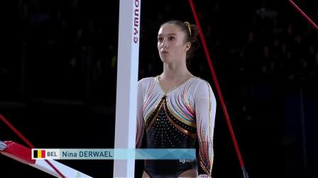 Nina Derwael-17世锦赛全能决赛高低杠(6.3 14.966)
