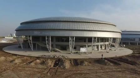 山东现飞碟造型建筑俯瞰宛若UFO降临地球
