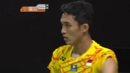 2019印尼羽毛球大师赛 乔纳坦VS斯里坎特集锦