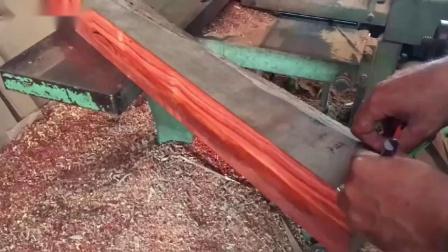 嵌入式红松实木柜制作组装,四边木板带浮雕图案!