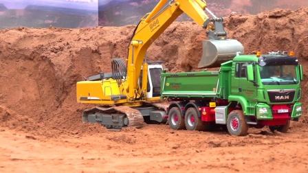 RC遥控卡车挖掘机推土机