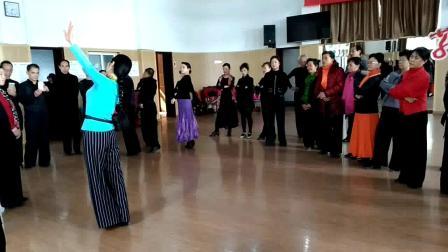 视频合并赵萍老师摩登舞高级班华尔兹教学套路
