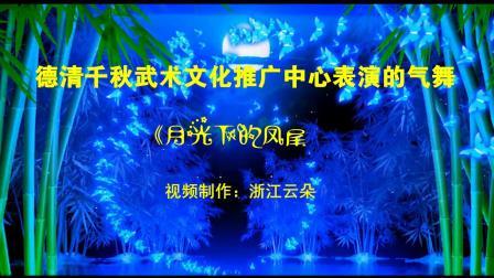 德清千秋武术文化推广中心表演的气舞《月光下的凤尾竹》