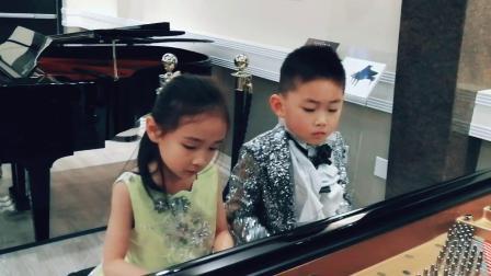 6岁琴童 四手联弹《庆新春组曲》