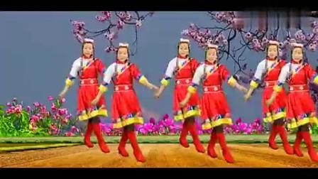 藏族民歌广场舞《格桑拉》草原歌曲大气好听,欢快舞步一开始就跳