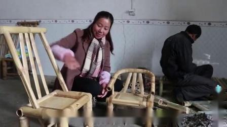 农村用竹子做的椅子,好看又实用,还是80后儿时的记忆