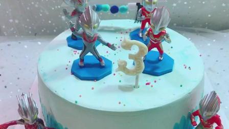 奥特曼生日蛋糕
