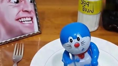 牛人竟把哆啦A梦给吃了,创意假吃,请勿模仿!