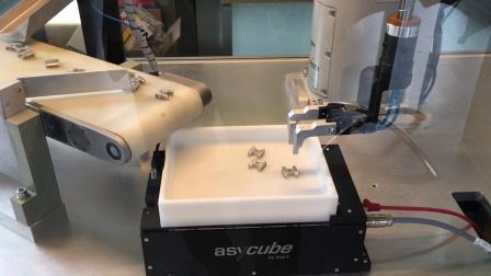 Asycube 240与Mitsubishi SCARA机器人_柔性送料演示