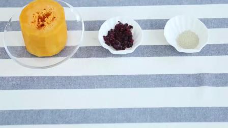南瓜夹心发糕制作方法,适合12个月宝宝辅食
