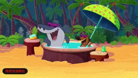 鲨鱼哥和美人鱼搞笑:鬣狗三兄弟太空之旅!-