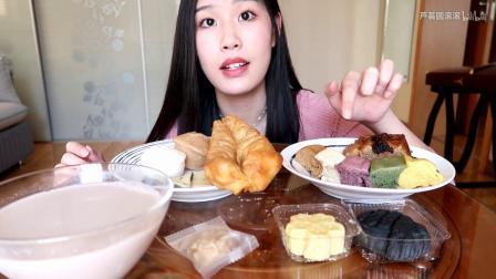 【吃播】丰盛的早餐!豆浆油条,宁波米馒头,绿豆糕~ - 史家糕点