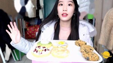 【吃播】吃一些面包,甜甜圈,假鲍师傅肉松小贝~