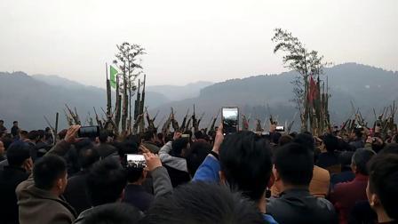 2018融水苗歌,高武村芦笙节,农历12.23 拱洞培足十二队对大年高汉,