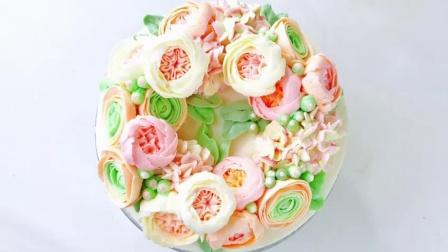 蛋糕裱花艺术之绣球花HD