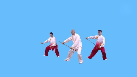 健身气功养生杖演练