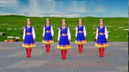 广场舞精选-《吉祥》好听的藏族歌曲,舞姿优美,正背面教学版