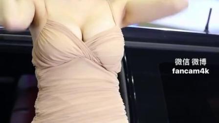 韩国美女赛车模特 Song Jooa 宋姝儿 米色包臀短裙