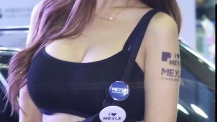 高清 韩国美女车模 kimhayul 金荷律 深蓝抹胸热裤