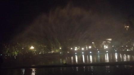 新会玉湖音乐喷泉⛲️夜景美!