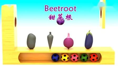 美味的水果蔬菜教你认识不同的颜色与蔬菜的英文发音