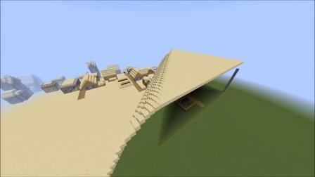 我的世界:草原瞬间变沙漠,强迫症玩家表示极度舒适!