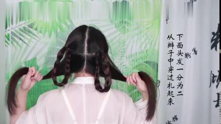 丫鬟发髻-下-汉服日常发型-古风编发-汉服日常-长发汉服发型