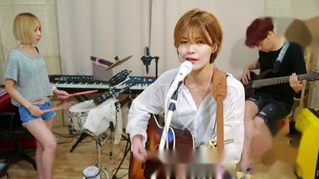 韩国美女乐队现场翻唱,这样感觉还是第一次