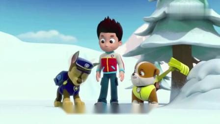 汪汪队:莱德带着阿奇在雪怪的事情
