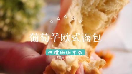 葡萄干欧式面包制作方法,适合10个月宝宝辅食