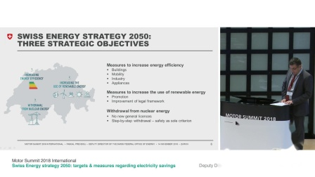 Motor Summit 2018: Swiss Energy strategy 2050, Pascal Previdoli, BFE