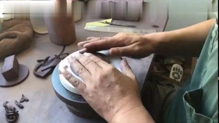 庄庄紫砂-半手工紫砂壶成型步骤(二)-搪身筒