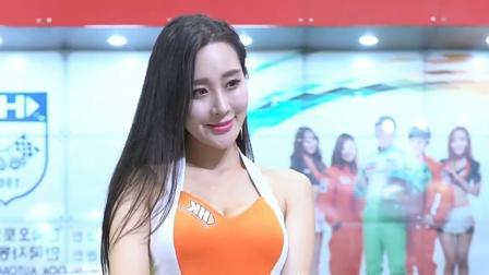 韩国时尚美女车模,橙色装扮小姐姐女神气质足
