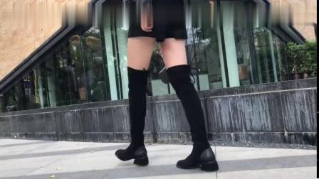 时尚高跟鞋,自带浓浓欧美风格的长靴,精致的黑色外观