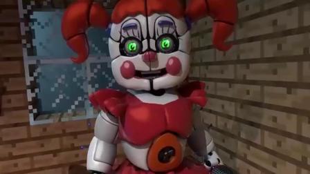 我的世界MC动画:FNAFF怪物学校挑战奶奶游戏!