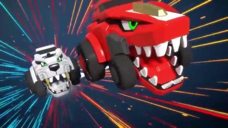 变形恐龙玩具三角龙5合体变形机器人玩具