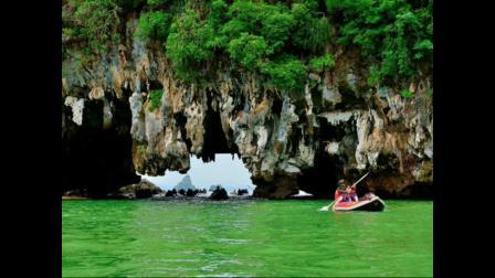 泰国普吉岛旅游之三割喉岛橡皮艇泛舟